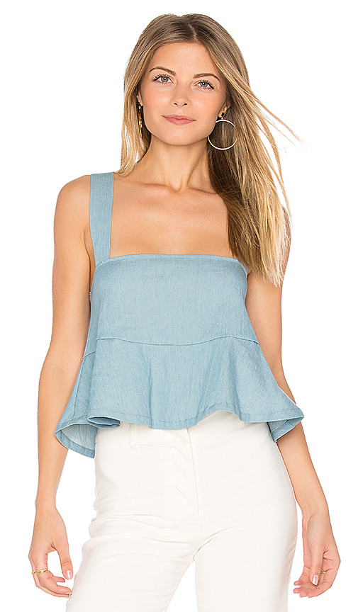 Clayton Denim Drew Top in Blue