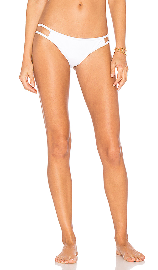 CHROMAT Cutout Bikini Bottom in White