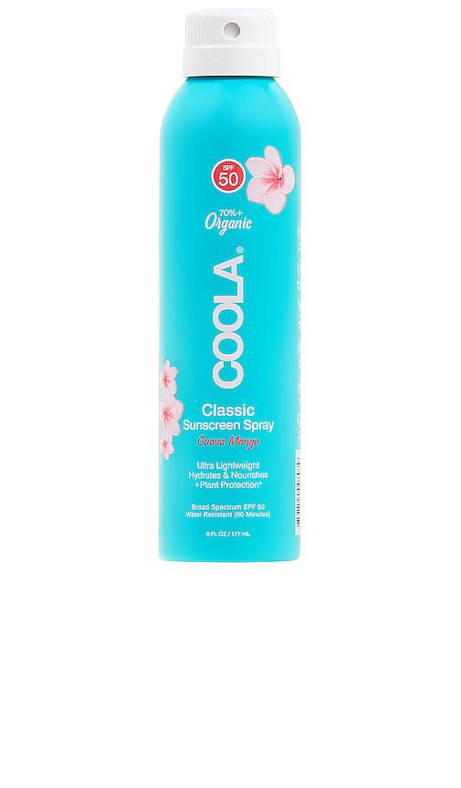 COOLA Eco-Lux Body SPF 50 Guava Mango Sunscreen Spray.