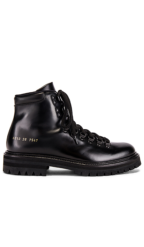 Common Projects Hiking Boot In Black