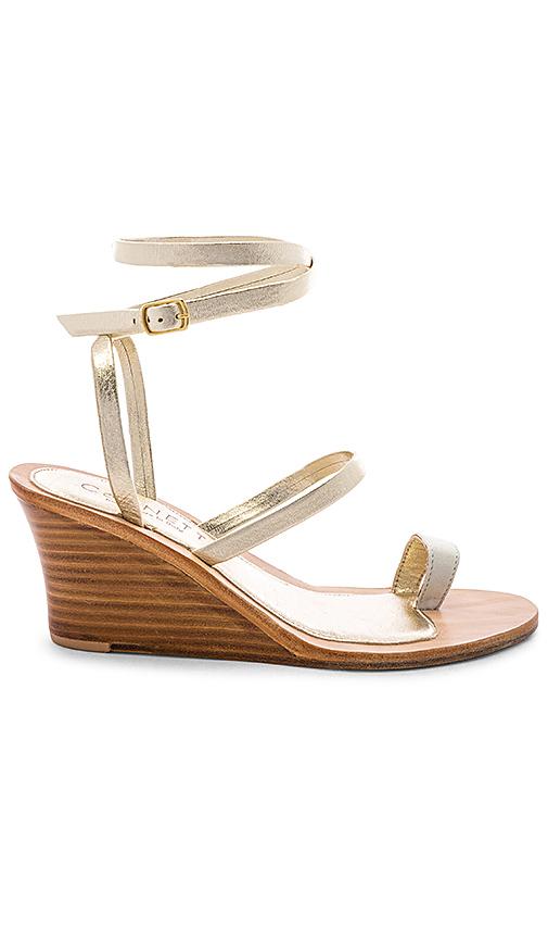 CoRNETTI Riaci Wedge Sandal in Metallic Gold. - size 36 (also in 37,40)