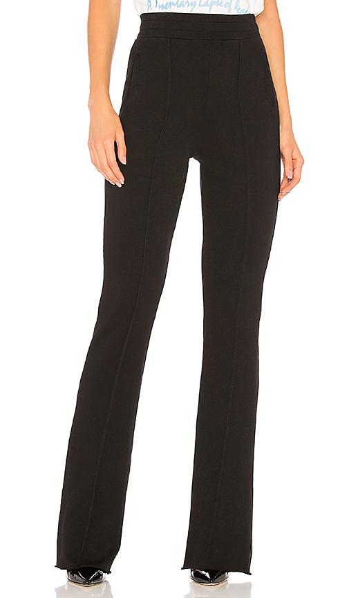 COTTON CITIZEN The Milan High Waisted Trouser in Black. - size L (also in M,S,XS)