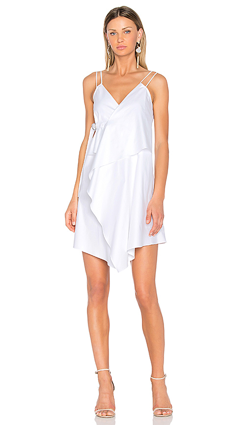 Carven Wrap Dress in White. - size 34/2 (also in 36/4,38/6,40/8,42/10)