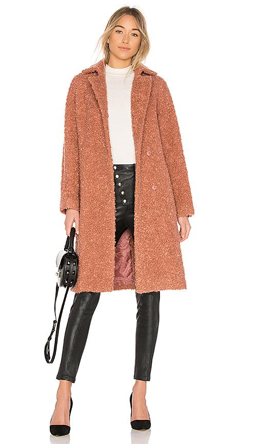 Carven Belted Coat in Rose