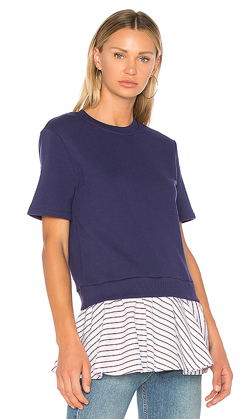 Carven Baby Doll Tee in Blue