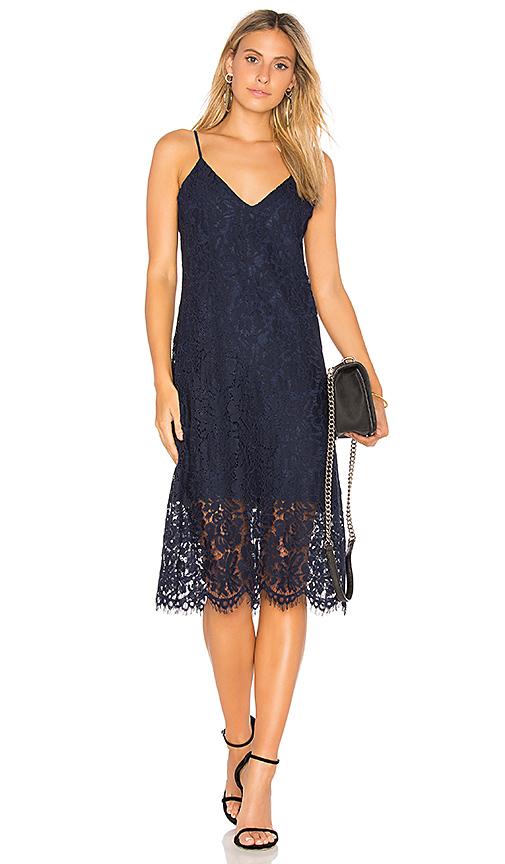 Chaser Vintage Lace Dress in Blue