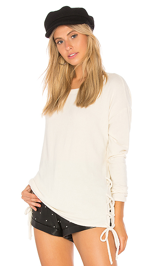 Chaser Love Knit Sweater in Cream. - size L (also in M,S,XS)