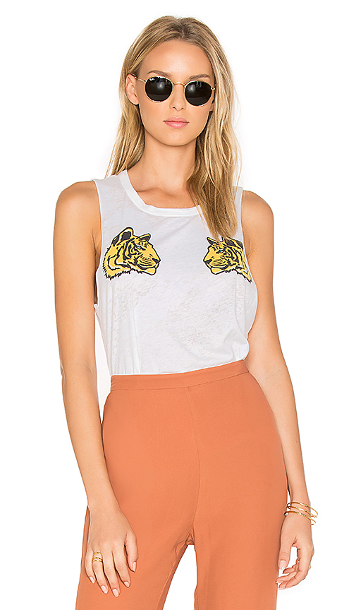 Chaser Reflected Tigers Tank in White