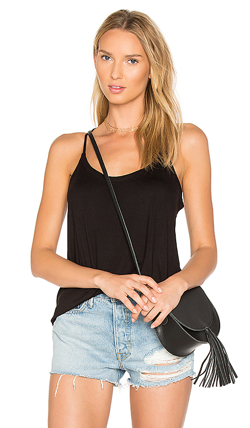 Chaser Strappy Scoop Neck Cami in Black