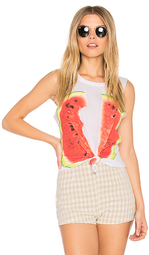 Chaser Watermelon Muscle Tee in White