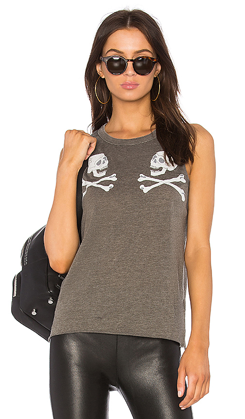 Chaser Reflected Skulls Tank in Green
