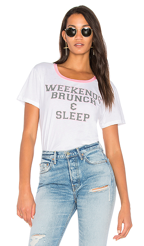 Chaser Weekend Brunch Tee in White