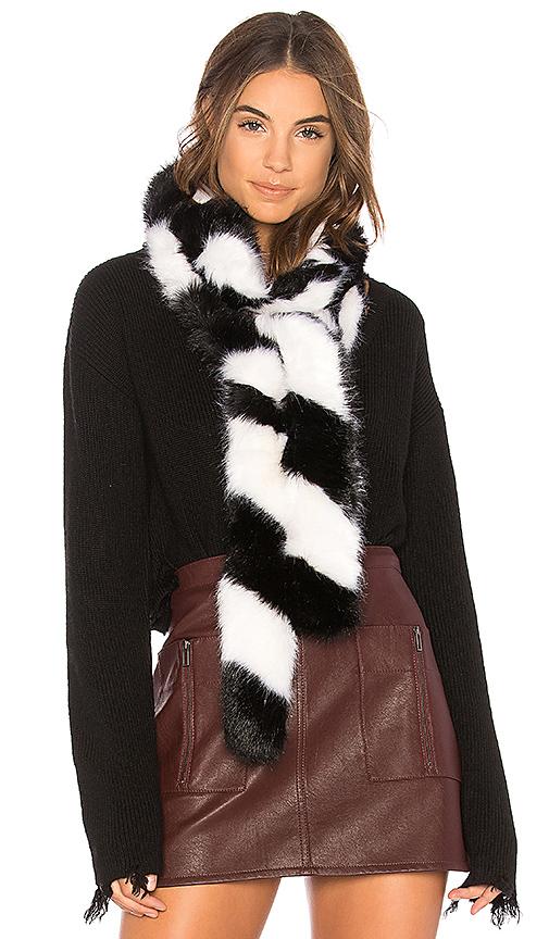 Charlotte Simone Faux Fur Lacey in Black & White