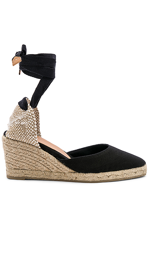 Castaner Joyce Wedge in Black