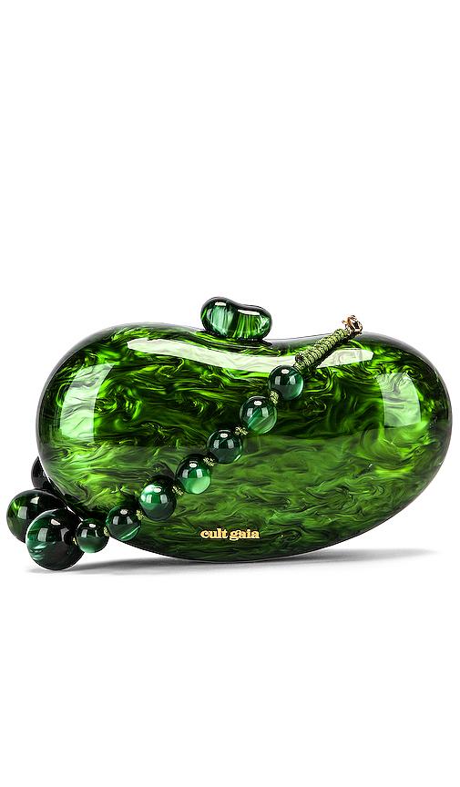 Cult Gaia Shoulder CULT GAIA TALLULAH BEAN SHOULDER BAG IN GREEN.