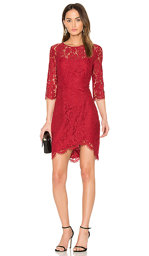 cupcakes and cashmere Joby Dress in Red
