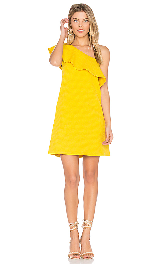 cupcakes and cashmere Tex Dress in Yellow