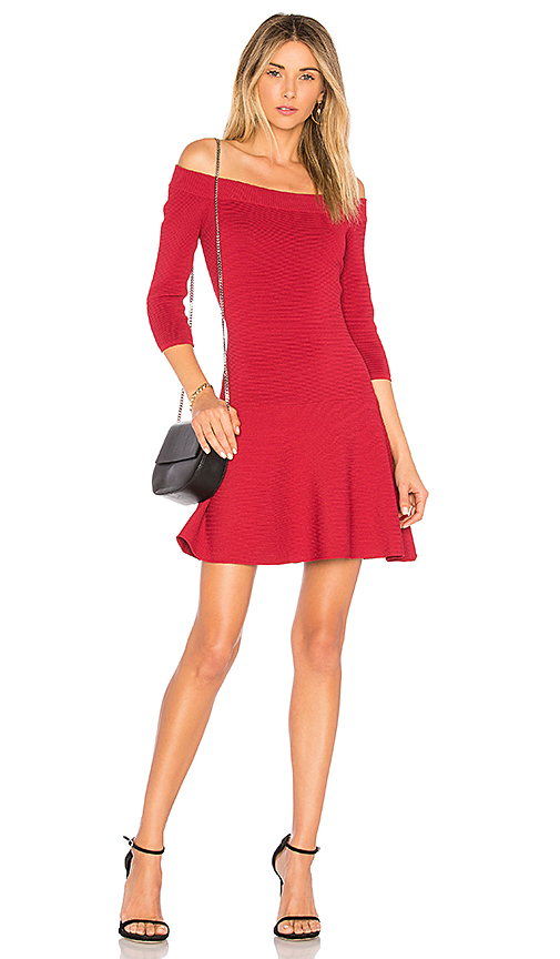 cupcakes and cashmere Whitley Mini Dress in Red