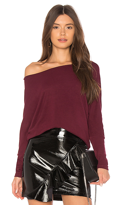 cupcakes and cashmere Chey Sweatshirt in Burgundy. - size XS (also in L,M,S)