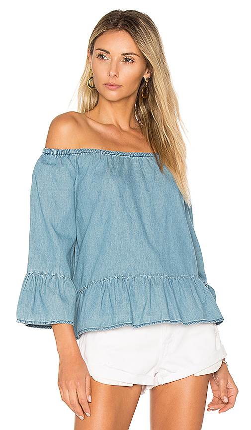 cupcakes and cashmere Bishop Top in Blue