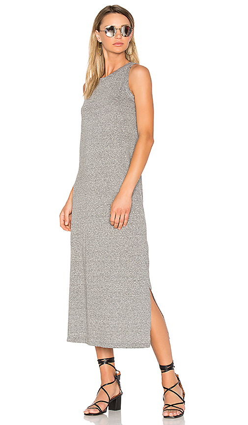 Current/Elliott The Perfect Muscle Tee Dress in Gray