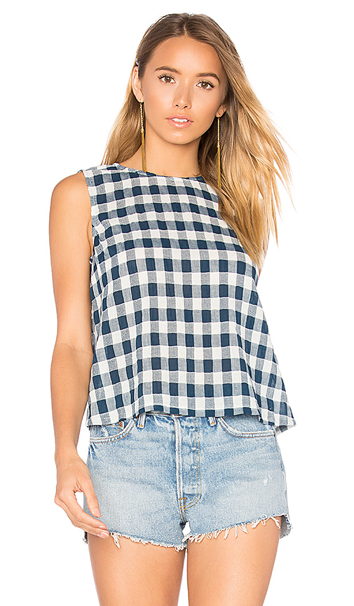 Current/Elliott The Boxy Cropped Tank in Blue