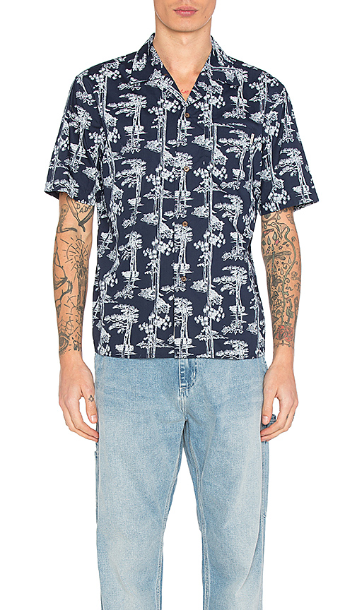Carhartt WIP Pine Hawaii Button Down in Navy. - size L (also in M)