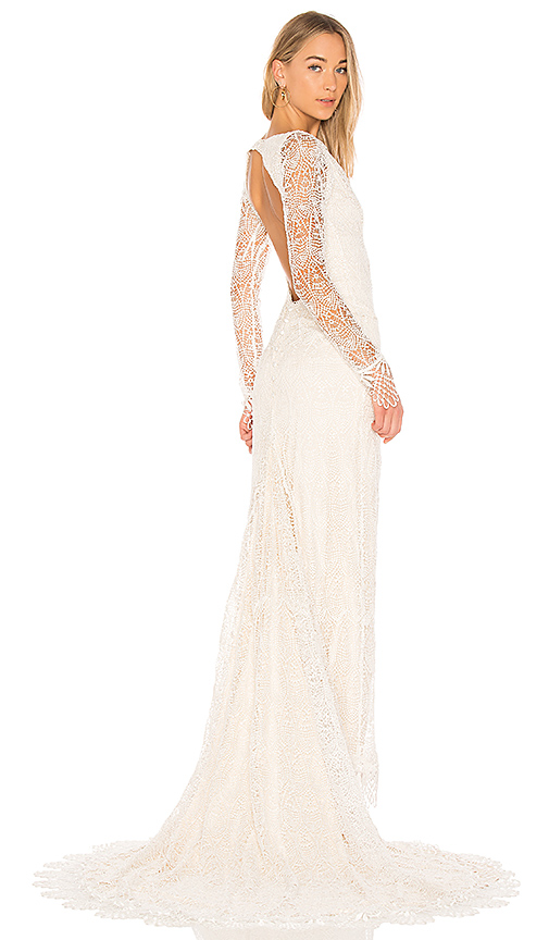 daughters of simone x REVOLVE Kait Gown in White
