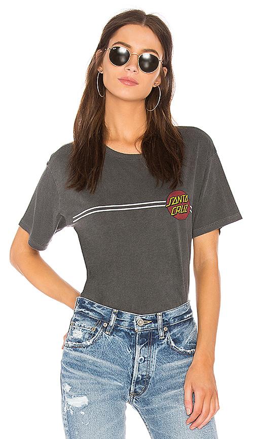 DAYDREAMER Double Stripe Dot Boyfriend Tee in Black. - size S (also in L)