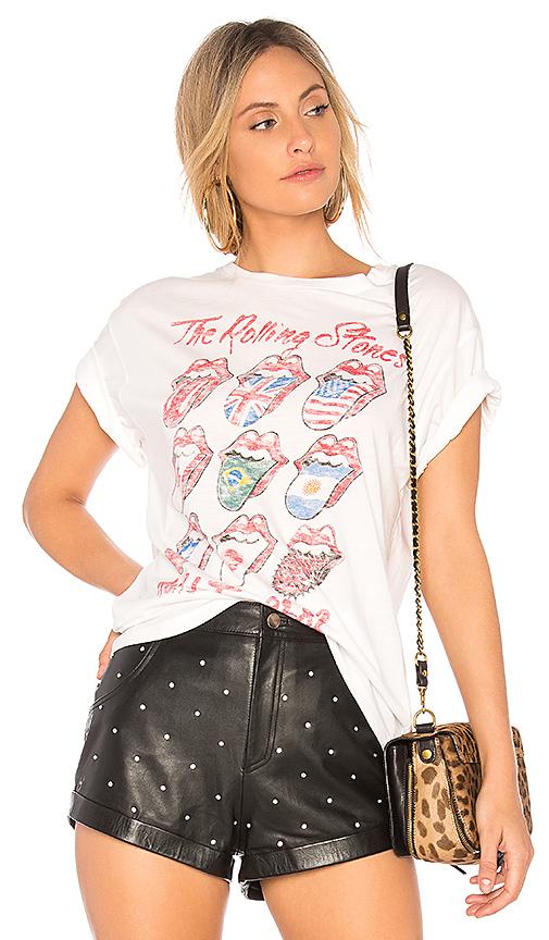 DAYDREAMER Rolling Stones Tour Boyfriend Tee in White