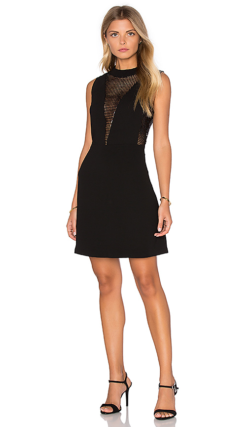Deby Debo Elisa Sequin Insert Dress in Black