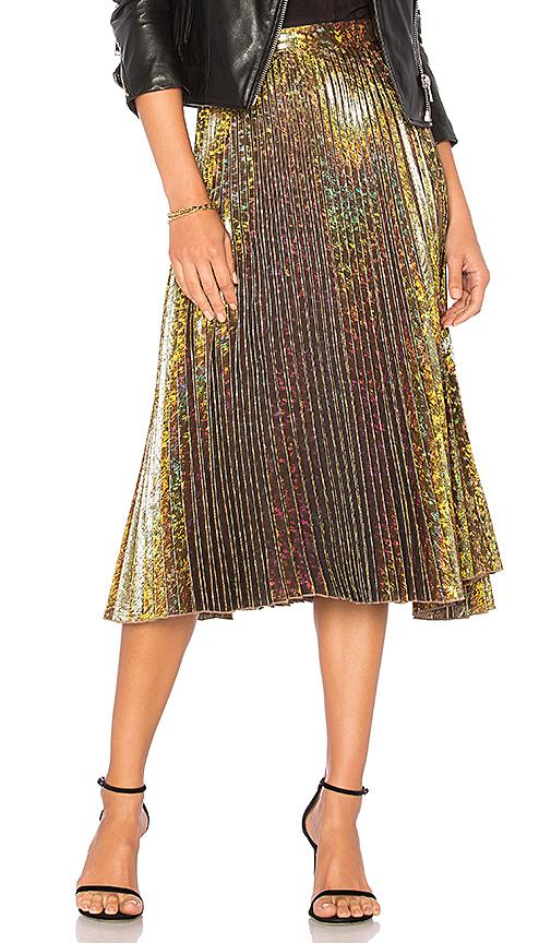 DELFI Clara Skirt in Metallic Gold. - size S (also in XS)