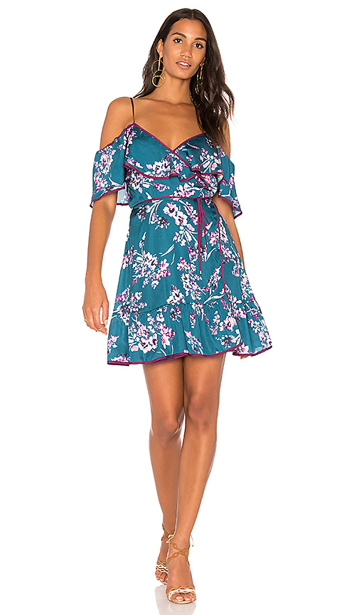 devlin Iris Cold Shoulder Dress in Blue. - size L (also in M,S,XS)