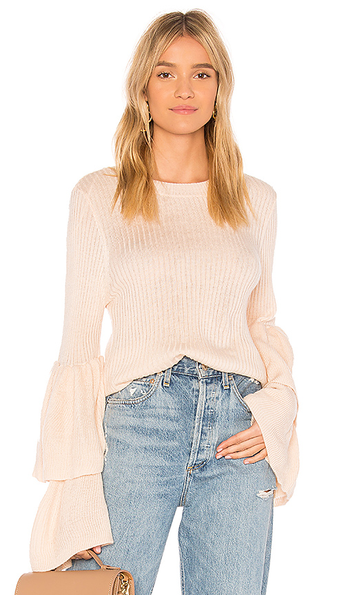 devlin Tiara Sweater in Blush. - size L (also in M,S,XS)