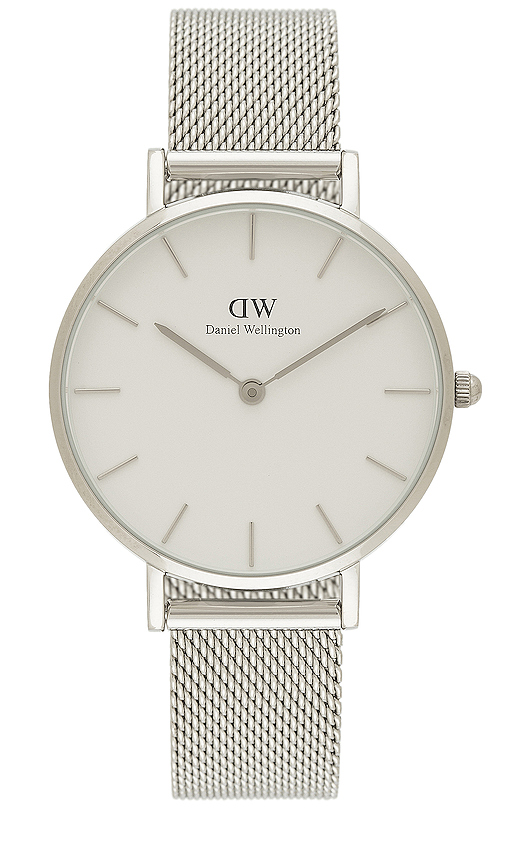 Daniel Wellington Petite Sterling 32mm Watch in Metallic Silver.