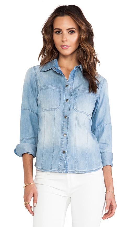DL1961 Jenny Denim Shirt in Blue