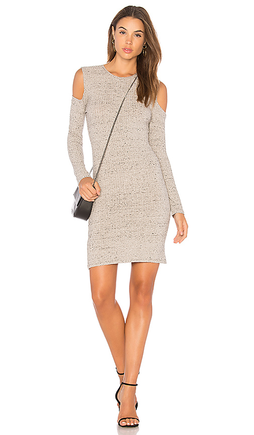 David Lerner Cold Shoulder Mini Dress in Gray