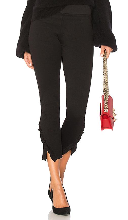 David Lerner Mid Rise Ruffle Legging in Black. - size XS (also in L,M,S)