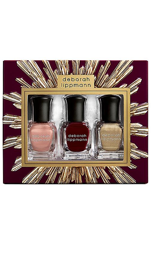Deborah Lippmann Holiday Gift Set in Burgundy.