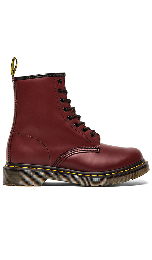 Dr Martens Iconic 8 Eye Boot in Red