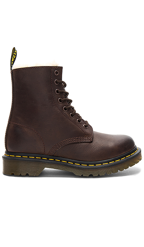 Dr Martens Serena Faux Fur Boot in Brown
