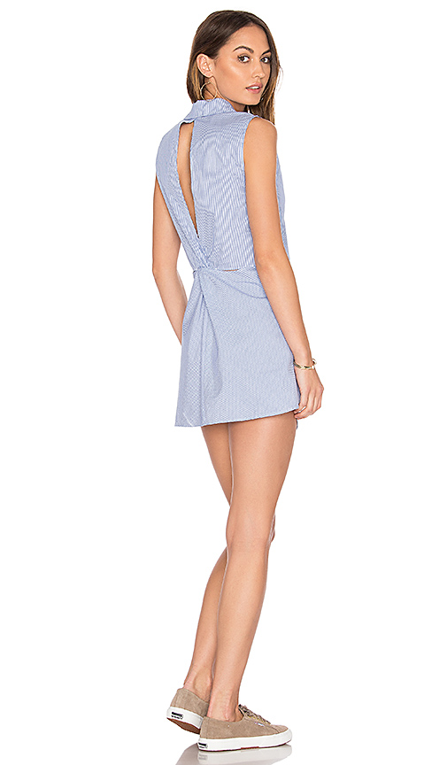 Dolce Vita Flora Button Down Dress in Blue