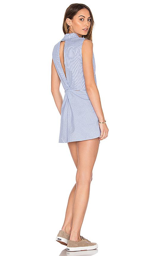 Dolce Vita Flora Button Down Dress in Blue