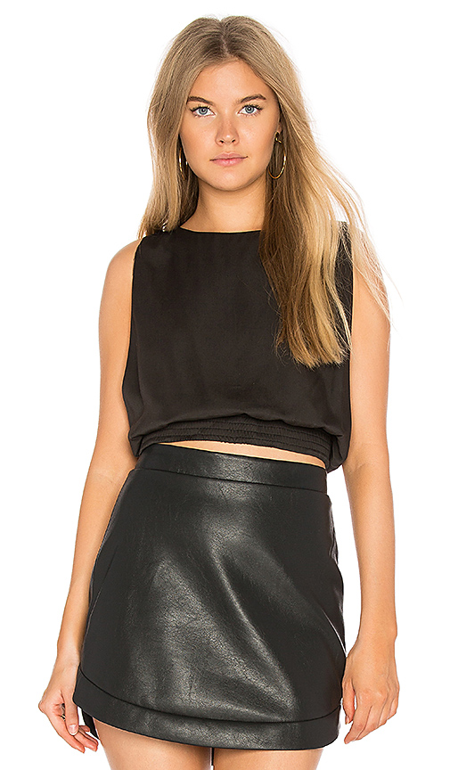 Dolce Vita Mackenzie Crop Top in Black