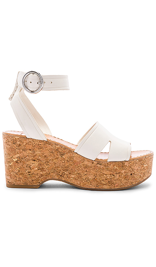 Dolce Vita Linda Platform Sandal in White