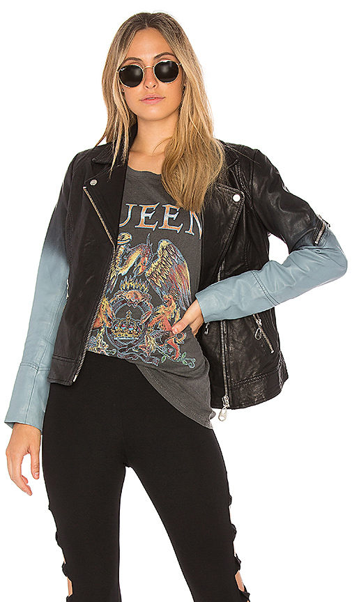 DOMA Ombre Moto Jacket in Black