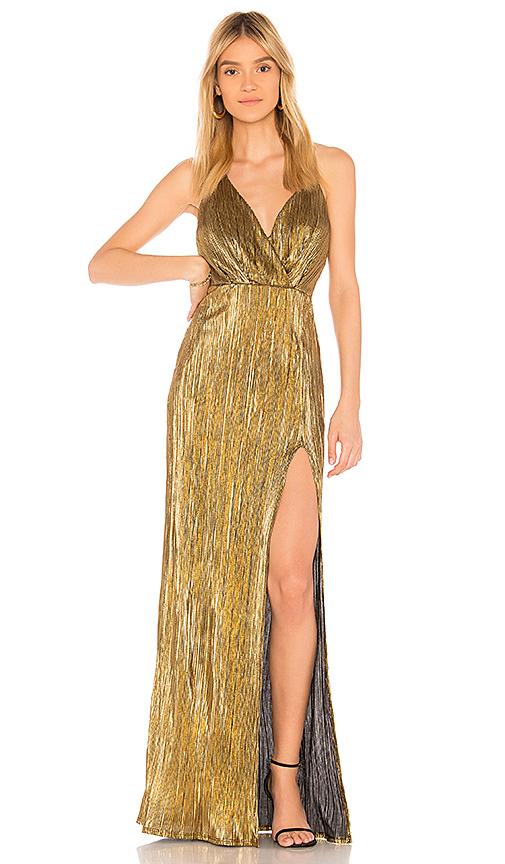 Donna Mizani Noah Dress in Metallic Gold