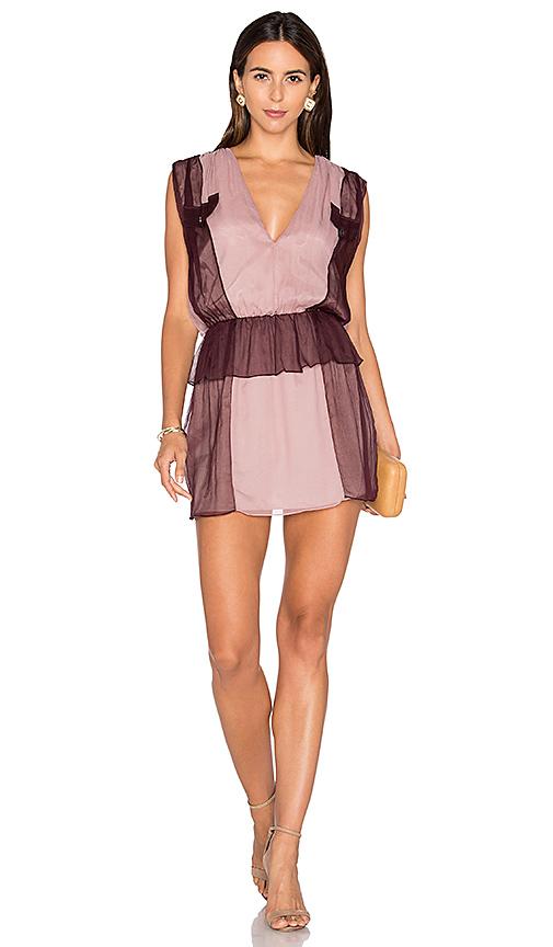 DREAM Karlie Two Tone Dress in Burgundy