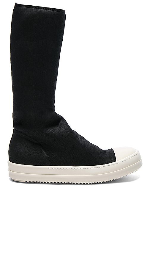 DRKSHDW by Rick Owens Scarpe Sock Sneakers in Black. - size 44 (also in 45)
