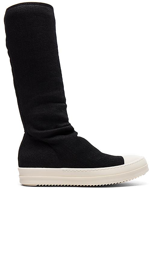 DRKSHDW by Rick Owens Sock Sneakers in Black